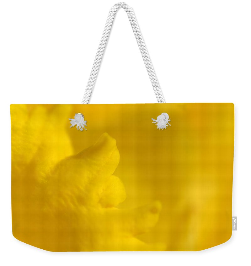 Flower Weekender Tote Bag featuring the photograph Butter Fingers by Donna Blackhall