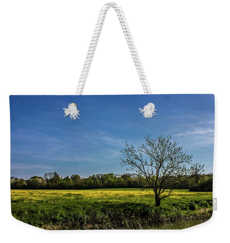 Landscape Weekender Tote Bag featuring the photograph Buttercup Fields by Martin Newman