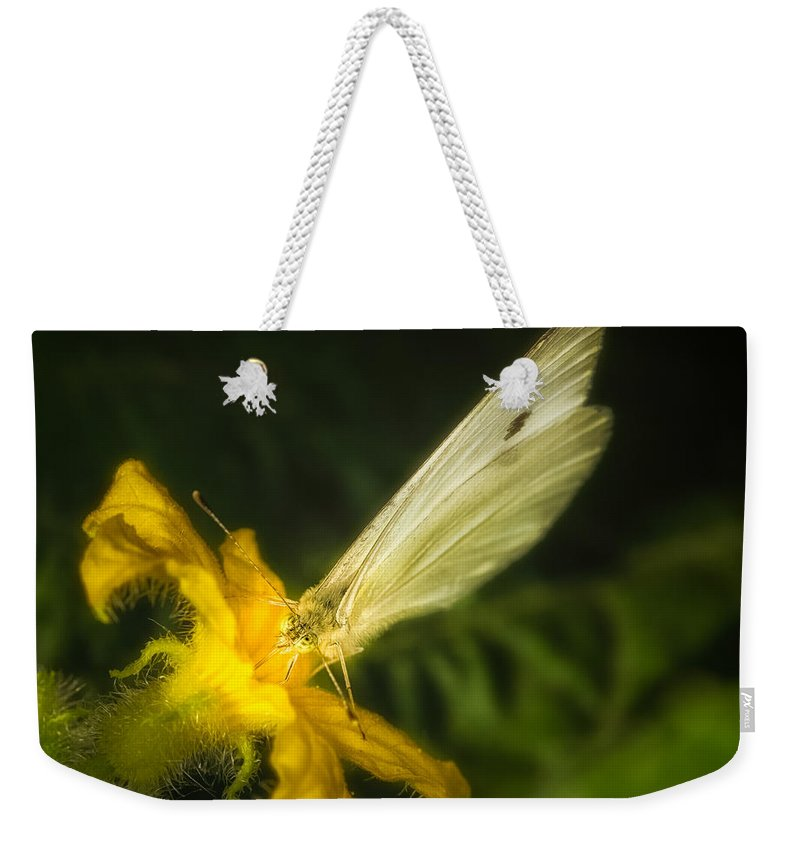 Animals Weekender Tote Bag featuring the photograph Butterflies And Blossoms by Rikk Flohr