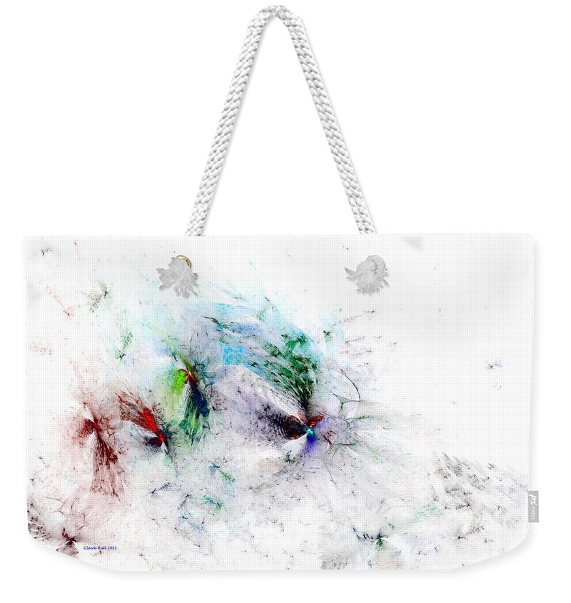 Digital Weekender Tote Bag featuring the digital art Butterflies Are Free by Claire Bull