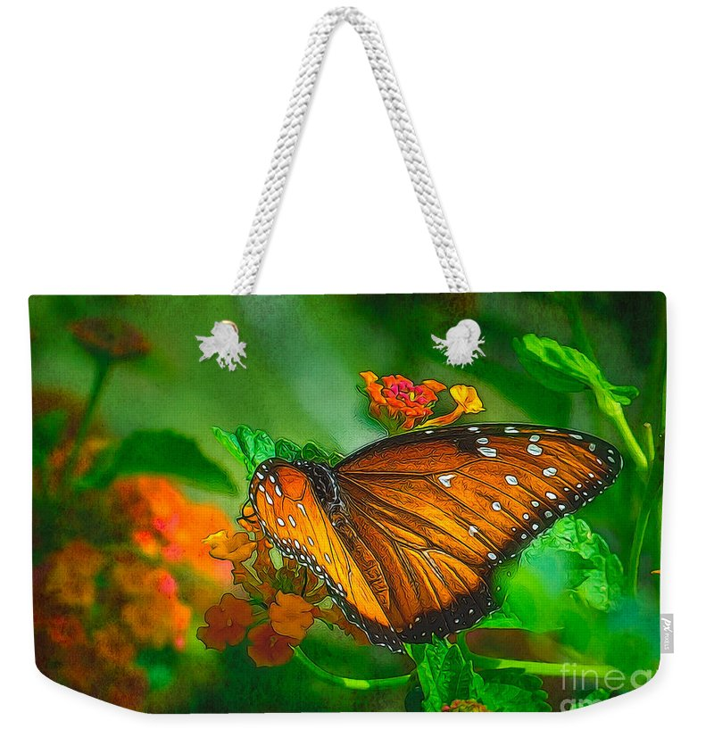 Butterfly Weekender Tote Bag featuring the photograph Butterfly 30 by Larry White