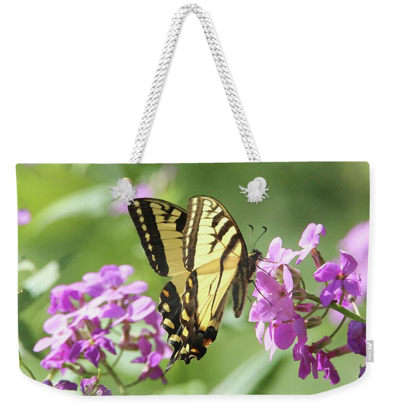 Butterfly Weekender Tote Bag featuring the digital art Butterfly #9 by David Stasiak