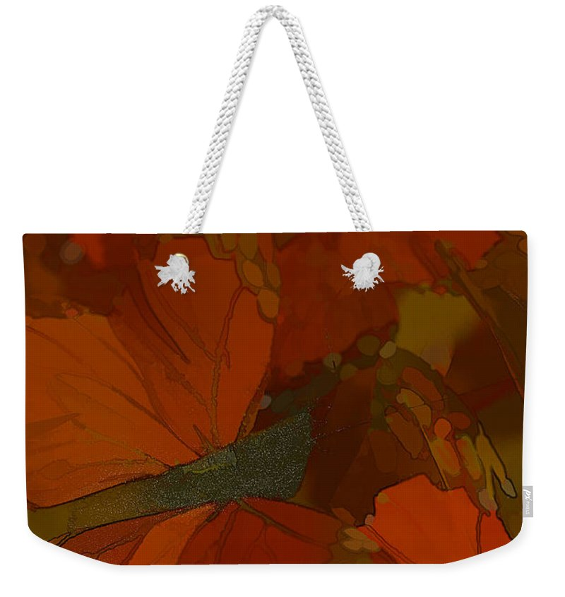 Butterflies Weekender Tote Bag featuring the photograph Butterfly Abstract by Deborah Benoit