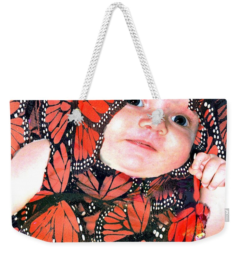 Butterfly Weekender Tote Bag featuring the photograph Butterfly Baby by Seth Weaver
