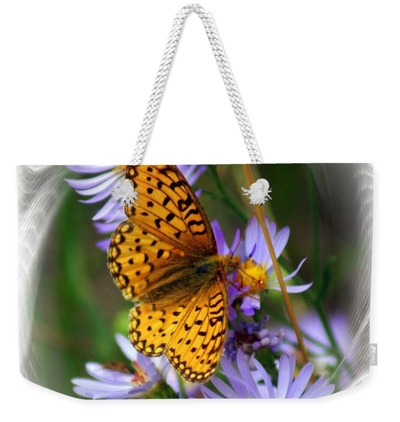 Butterfly Weekender Tote Bag featuring the photograph Butterfly Bliss by Marty Koch