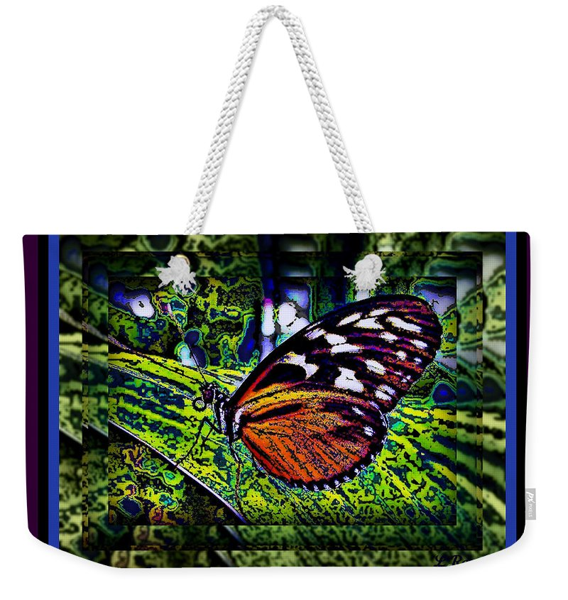 Butterfly Weekender Tote Bag featuring the photograph Butterfly Dreams by Leslie Revels