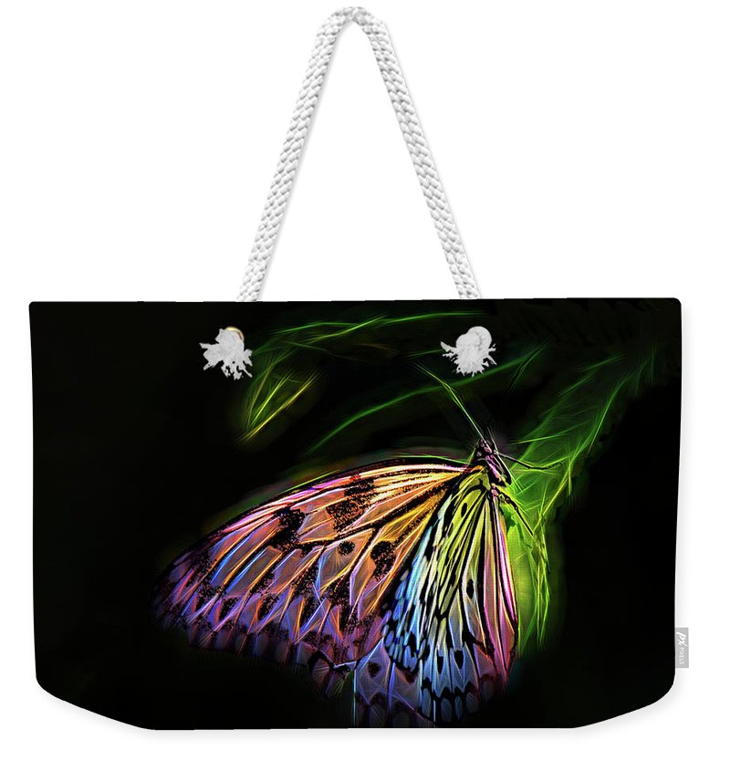 Digital Weekender Tote Bag featuring the digital art Butterfly Fantasy 1a by Walter Herrit