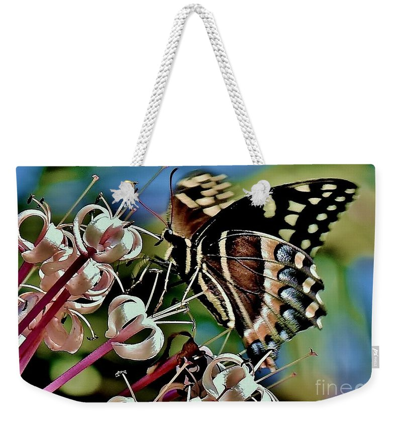 Butterfly Fantasy Weekender Tote Bag featuring the photograph Butterfly Fantasy by Lisa Renee Ludlum