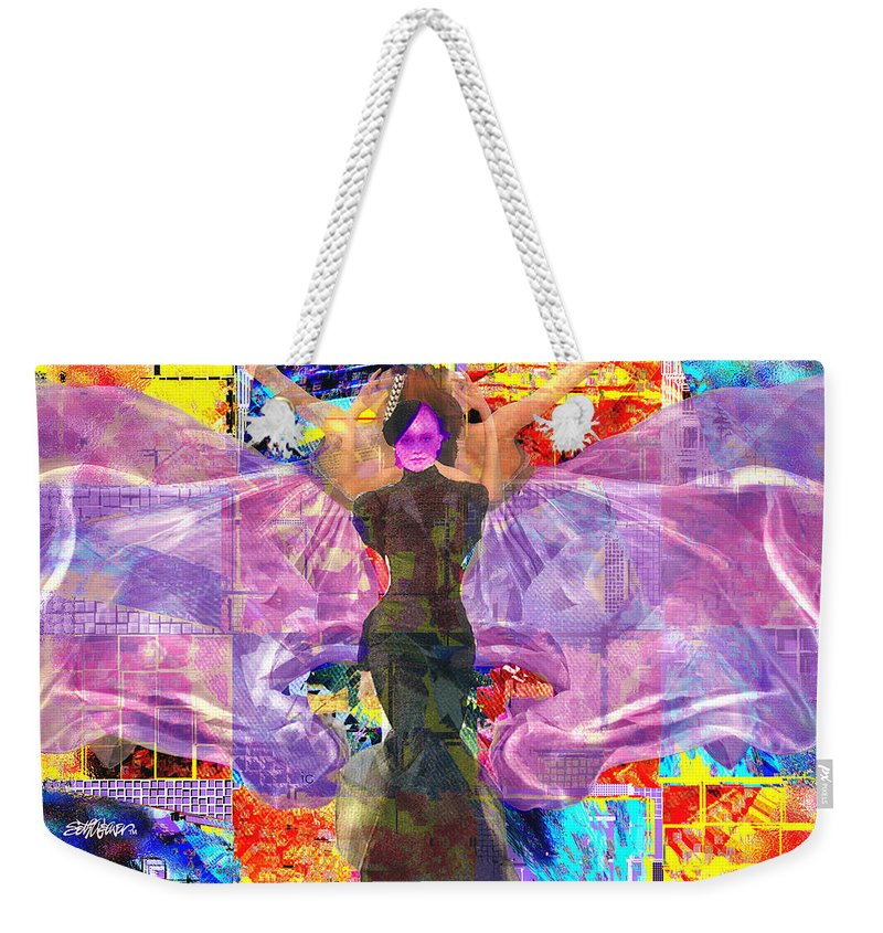 Butterfly Weekender Tote Bag featuring the digital art Butterfly Fantasy by Seth Weaver
