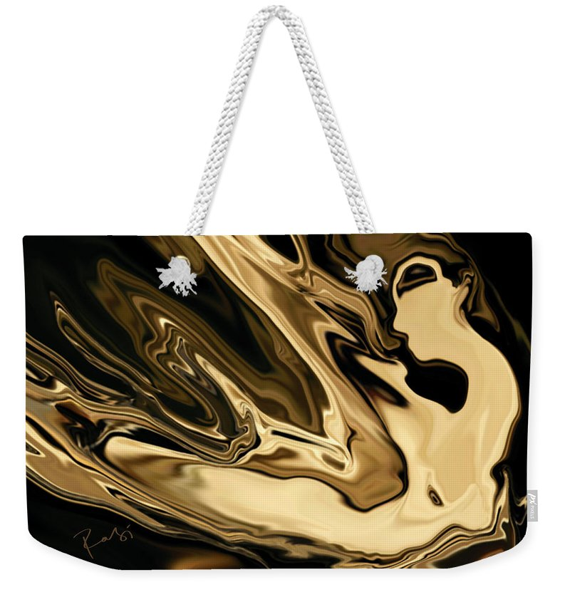 Abstract Weekender Tote Bag featuring the digital art Butterfly Girl 3 by Rabi Khan