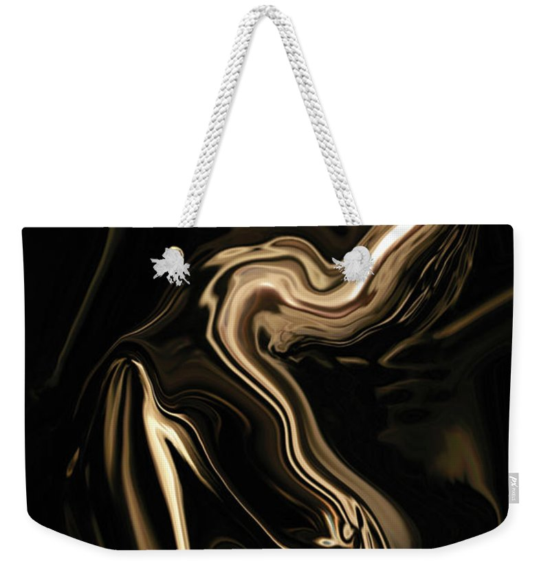 Abstract Weekender Tote Bag featuring the digital art Butterfly Girl by Rabi Khan