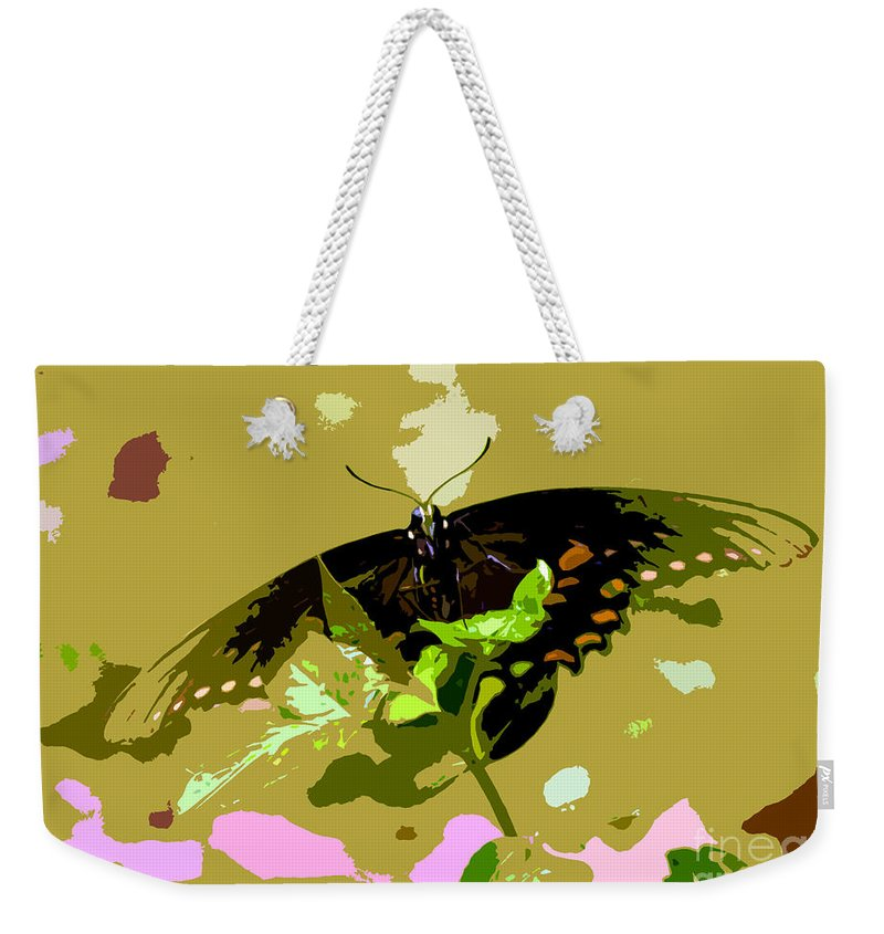 Butterfly Weekender Tote Bag featuring the photograph Butterfly In Color by David Lee Thompson