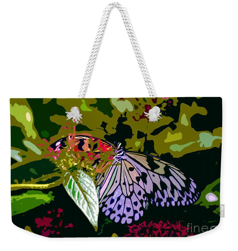 Butterfly Weekender Tote Bag featuring the photograph Butterfly In Garden by David Lee Thompson
