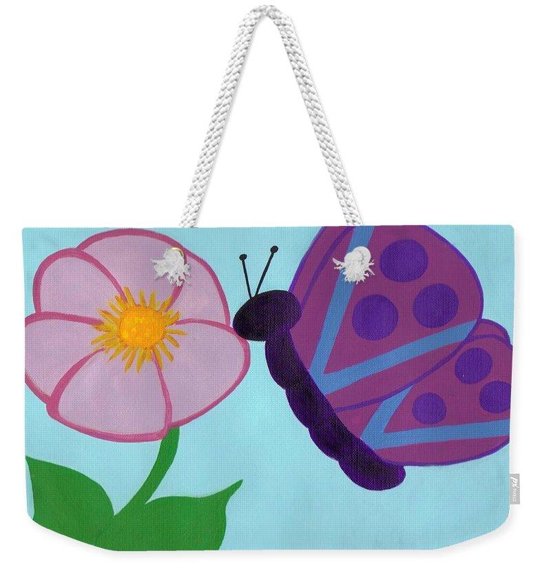Butterflies Weekender Tote Bag featuring the painting Butterfly by Jill Christensen