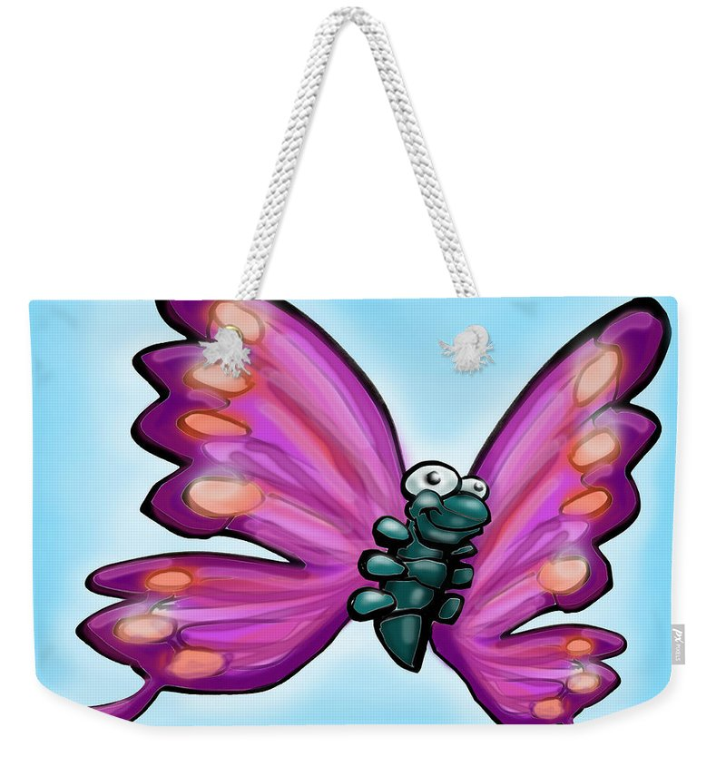 Butterfly Weekender Tote Bag featuring the painting Butterfly by Kevin Middleton