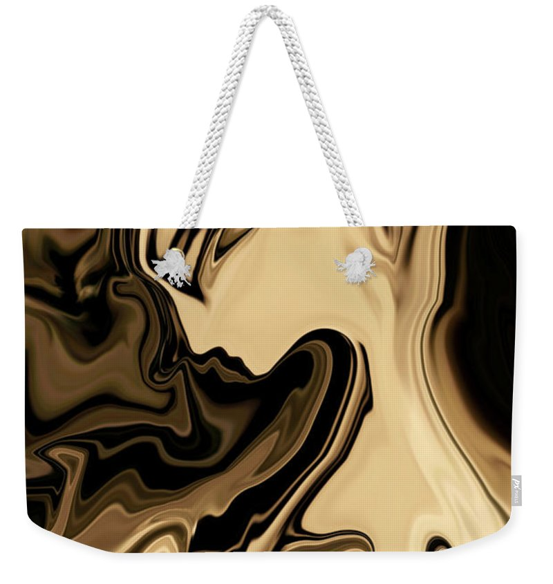 Abstract Weekender Tote Bag featuring the digital art Butterfly Princess by Rabi Khan