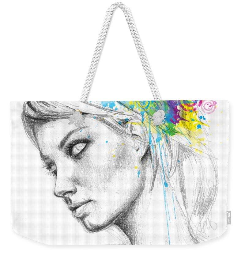 Butterfly Weekender Tote Bag featuring the digital art Butterfly Queen by Olga Shvartsur
