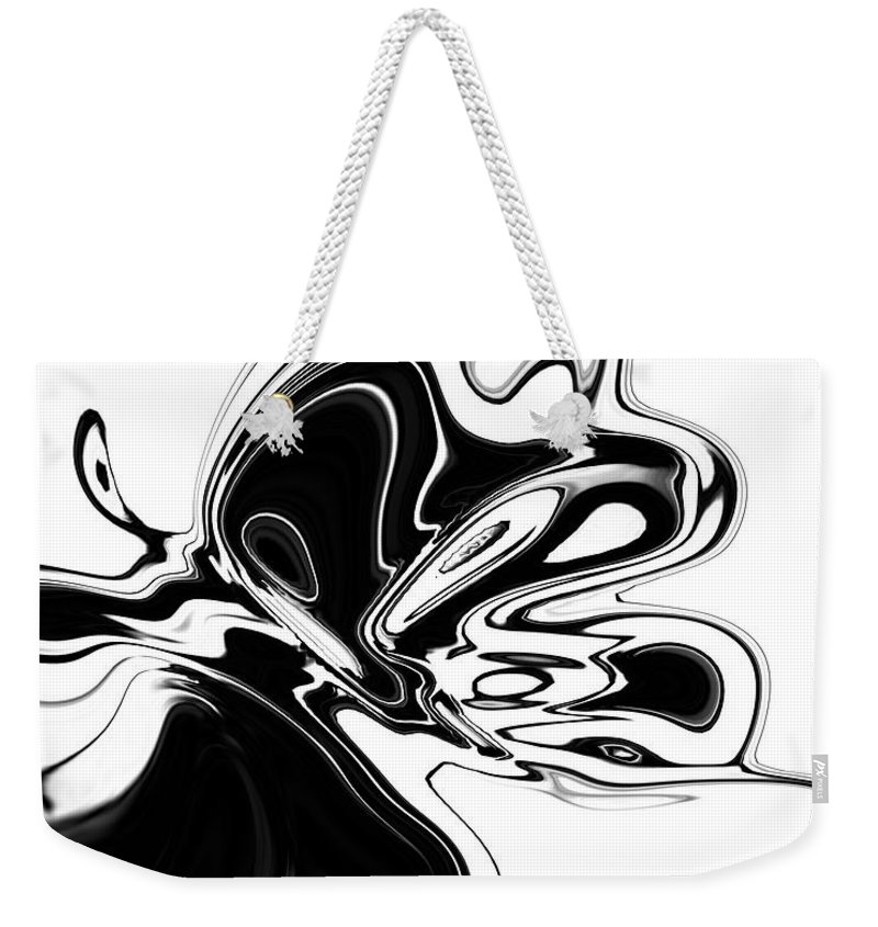 Abstract Weekender Tote Bag featuring the digital art Butterfly by Rabi Khan