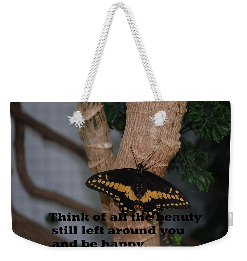 Butterfly Weekender Tote Bag featuring the photograph Butterfly Thing Of Beauty by Gary Wonning