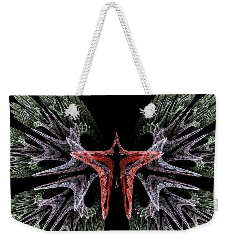 Apophysis Weekender Tote Bag featuring the digital art Butterfly Wings by Deborah Benoit