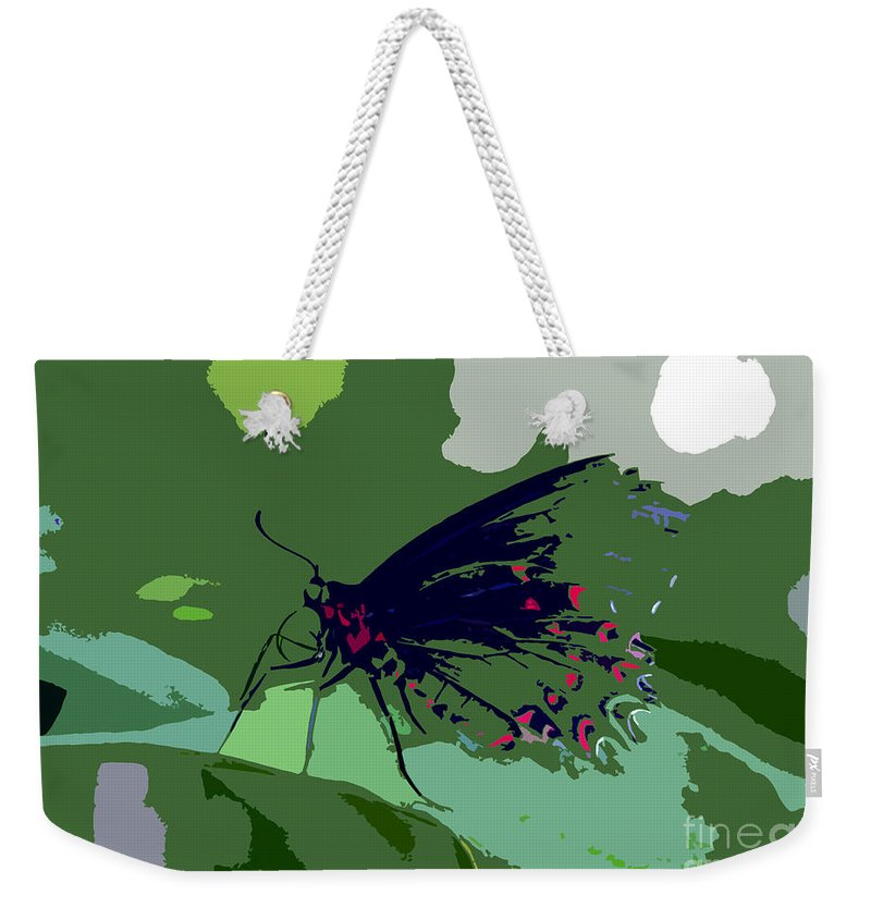 Butterfly Weekender Tote Bag featuring the photograph Butterfly Work Number Ten by David Lee Thompson