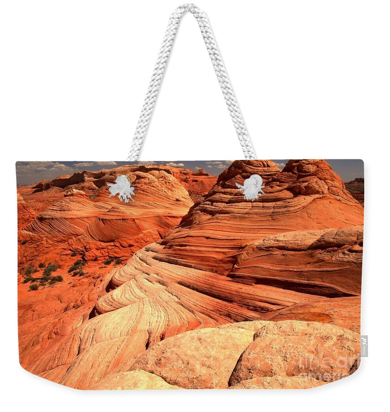 North Coyote Buttes Weekender Tote Bag featuring the photograph Buttes And Checkerboards by Adam Jewell