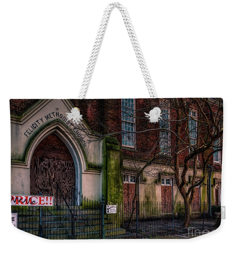 Church Weekender Tote Bag featuring the photograph Buy Felicity Methodist - Nola by Kathleen K Parker