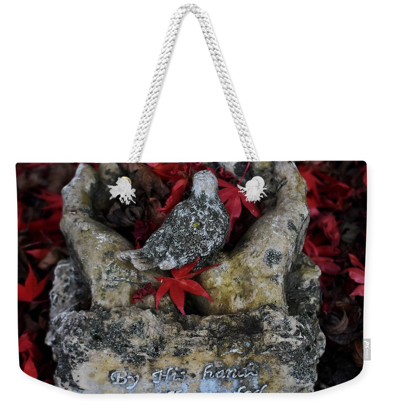 Leaf Weekender Tote Bag featuring the photograph By His Hands by Christal Randolph