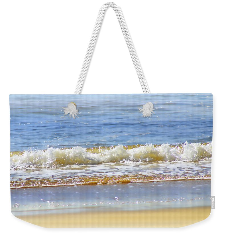 Seascapes Weekender Tote Bag featuring the photograph By The Coral Sea by Holly Kempe