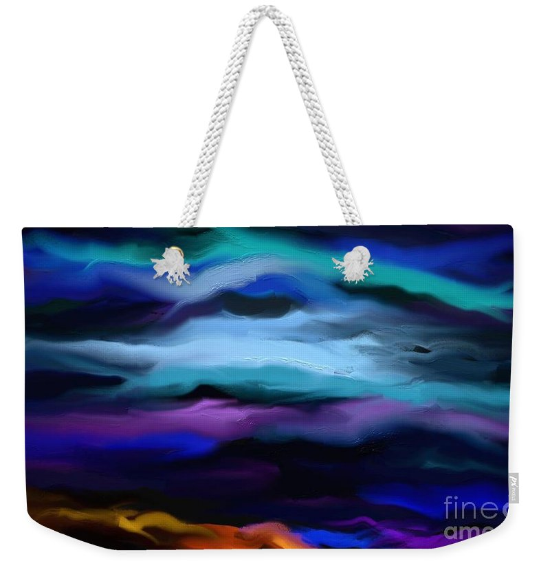 Digital Weekender Tote Bag featuring the painting By The Sea by Rushan Ruzaick