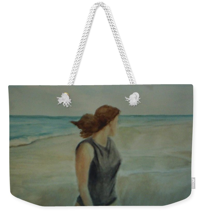 Ocean Weekender Tote Bag featuring the painting By The Sea by Sheila Mashaw
