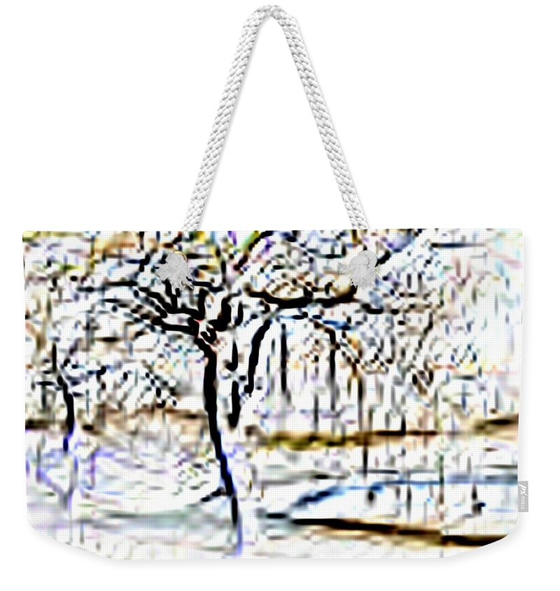 Tree Weekender Tote Bag featuring the photograph By Waters Edge by Tim Allen
