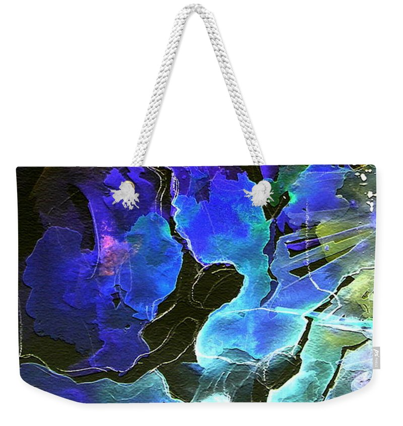 Miki Weekender Tote Bag featuring the painting Bye by Miki De Goodaboom