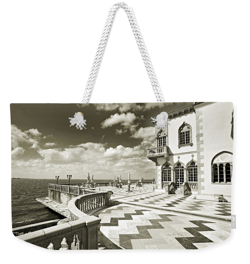 Ringling Weekender Tote Bag featuring the photograph Ca D'zan Mansion by Mal Bray