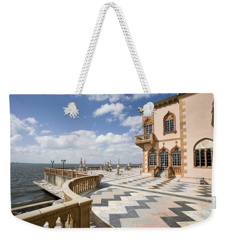 Ringling Weekender Tote Bag featuring the photograph Ca D'zan Mansion Sarasota by Mal Bray
