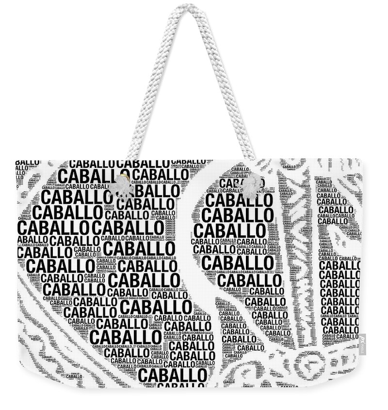 Caballo Weekender Tote Bag featuring the digital art Caballo by Alice Gipson