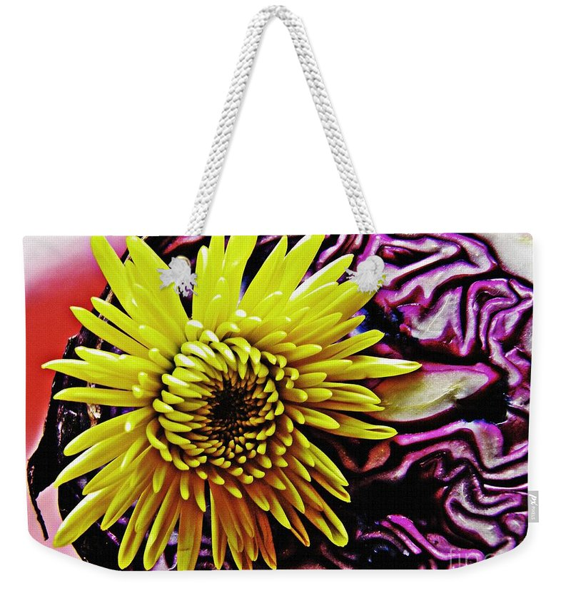 Mums Weekender Tote Bag featuring the photograph Cabbage And Mum by Sarah Loft
