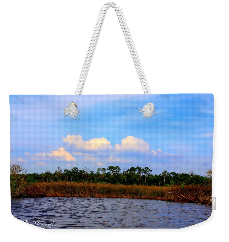Cabbage Palms Weekender Tote Bag featuring the photograph Cabbage Palms And Salt Marsh Grasses Of The Waccasassa Preserve by Barbara Bowen