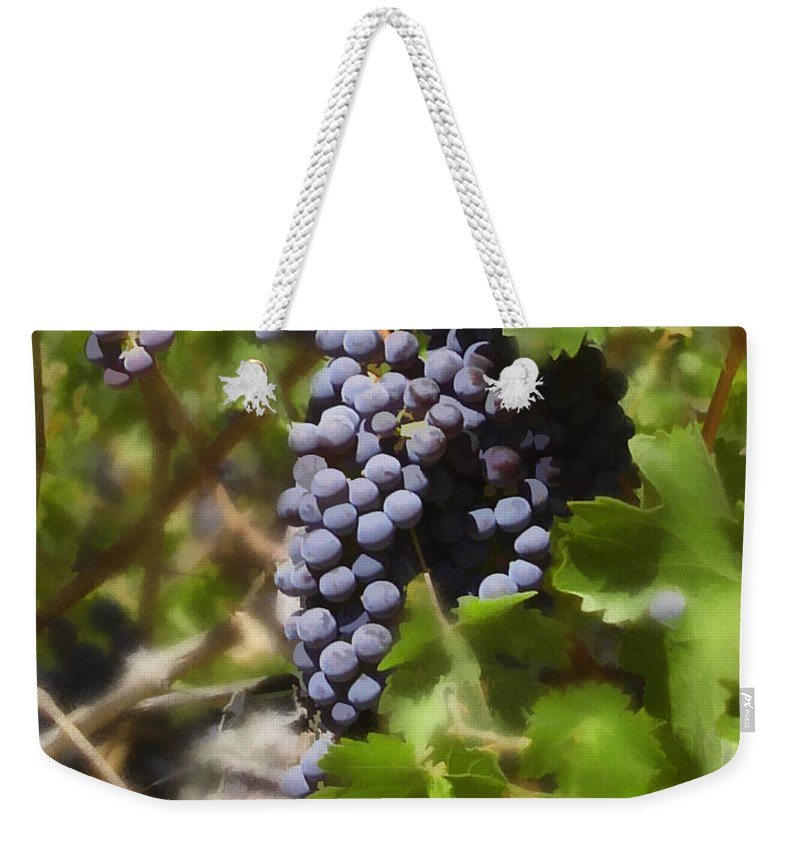 Cabernet Weekender Tote Bag featuring the photograph Cabernet by Kurt Van Wagner