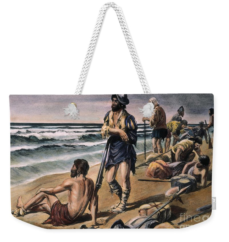 16th Century Weekender Tote Bag featuring the photograph Cabeza De Vaca Expedition by Granger