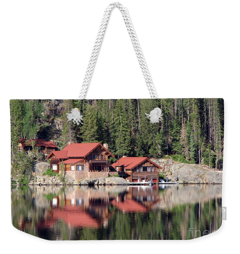 Cabin Weekender Tote Bag featuring the photograph Cabin by Amanda Barcon
