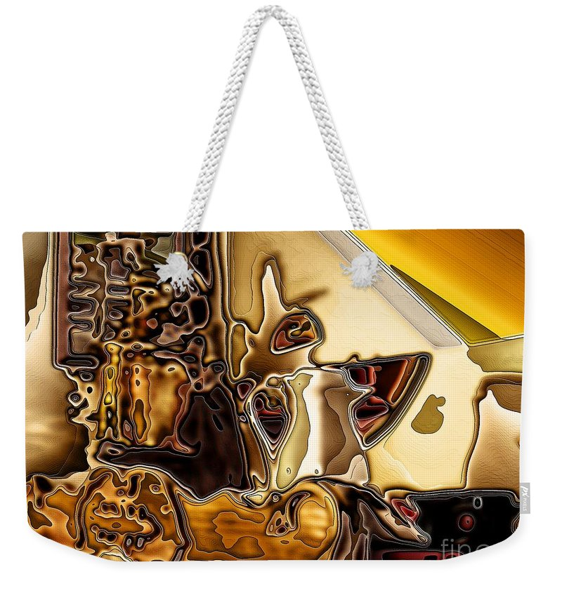 Cabinet Top Weekender Tote Bag featuring the digital art Cabinet Top by Ron Bissett