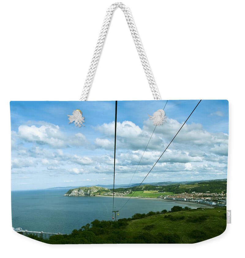 Aqua Weekender Tote Bag featuring the photograph Cable Lift by Svetlana Sewell