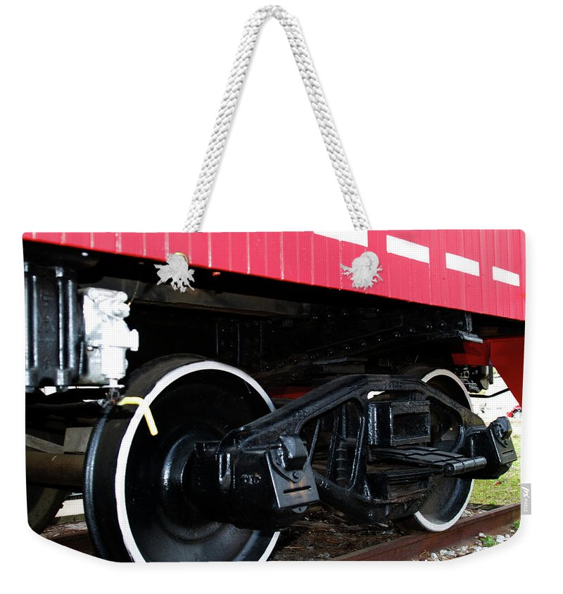 Caboose Weekender Tote Bag featuring the photograph Caboose by Bob Johnson