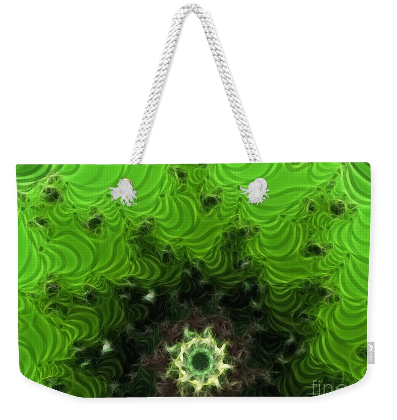 Cactus Abstract Weekender Tote Bag featuring the digital art Cactus Abstract by Methune Hively