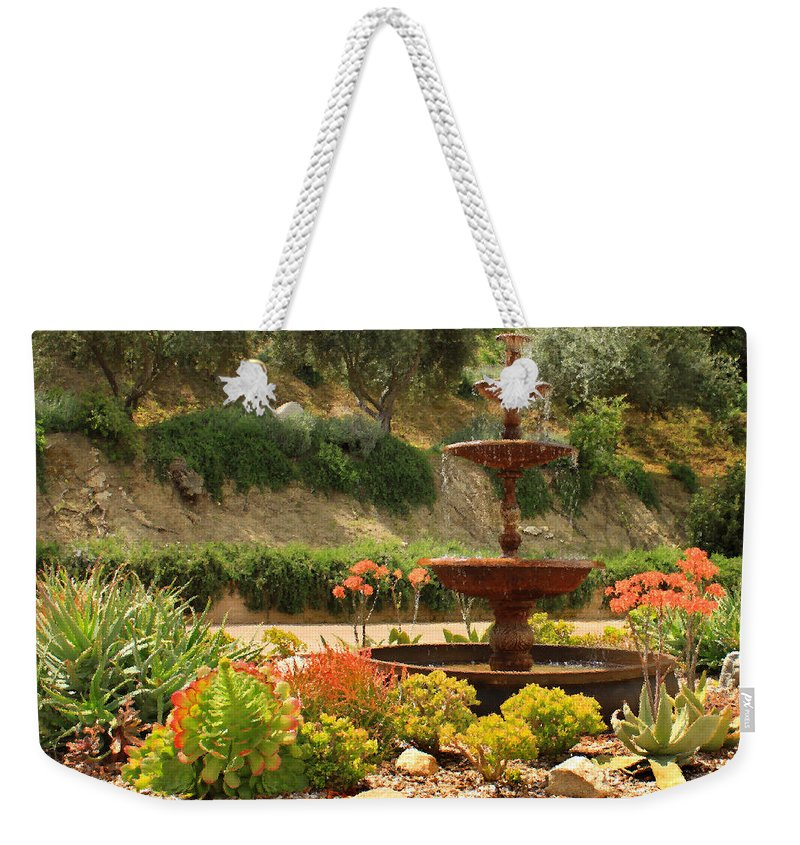 Floral Weekender Tote Bag featuring the photograph Cactus Fountain by James Eddy