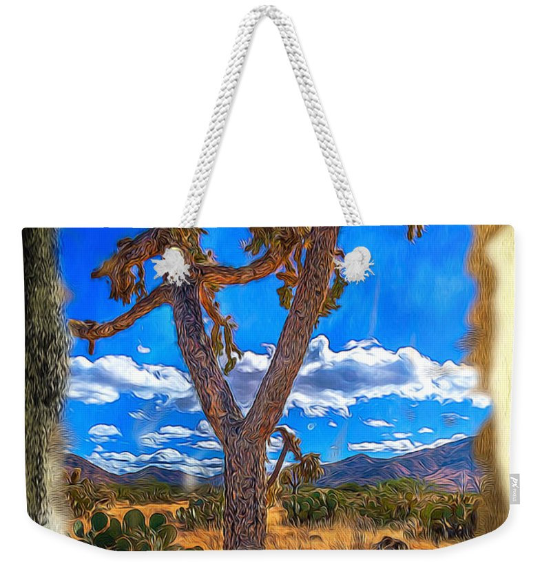 Cactus Weekender Tote Bag featuring the photograph Cactus by Larry White