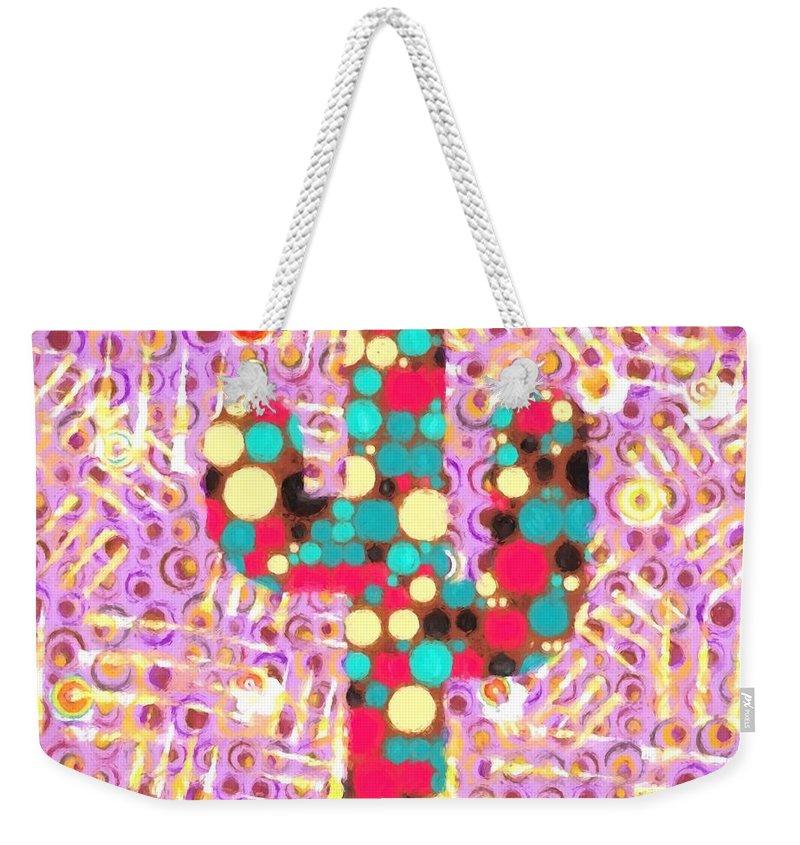 Cactus Pop Art Weekender Tote Bag featuring the painting Cactus Pop Art by Dan Sproul