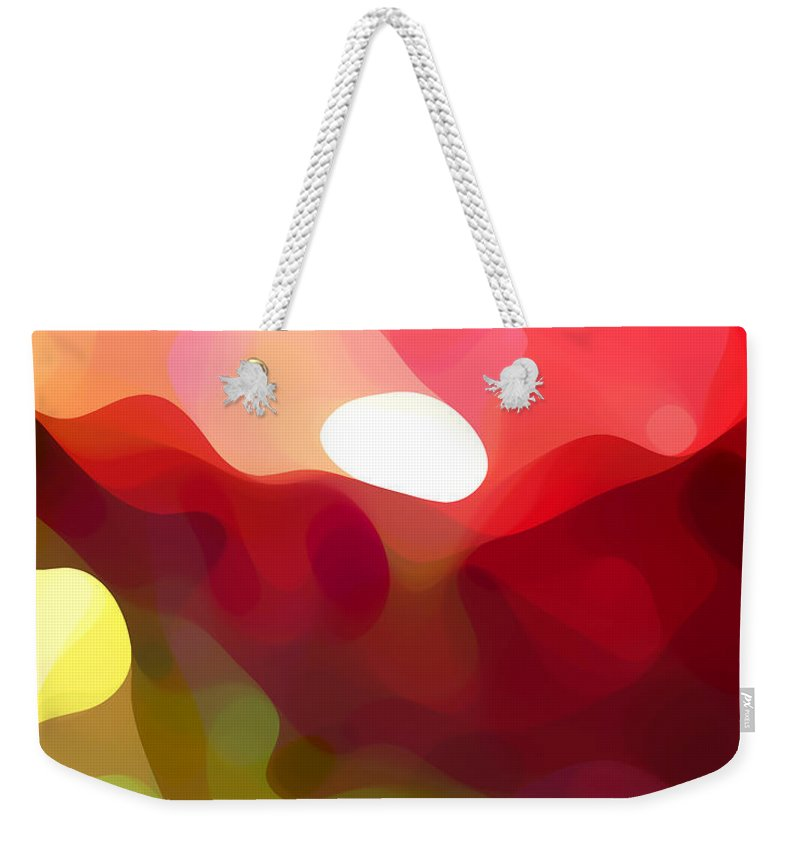 Abstract Art Weekender Tote Bag featuring the painting Cactus Resting by Amy Vangsgard