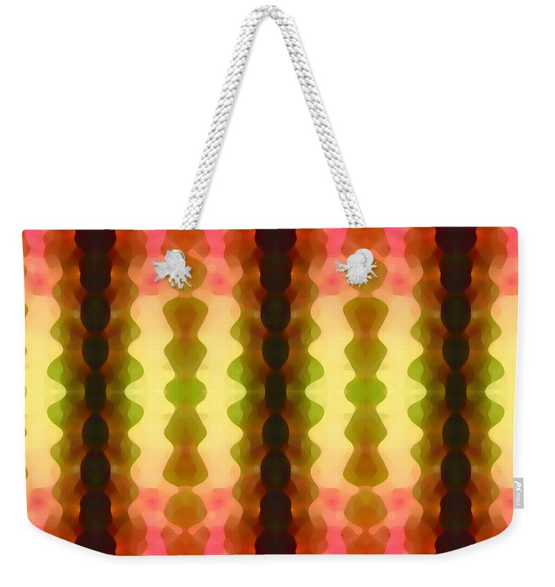 Abstract Painting Weekender Tote Bag featuring the digital art Cactus Vibrations 1 by Amy Vangsgard